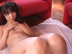 Breasty Oriental charms a pulsating pecker with moist engulfing